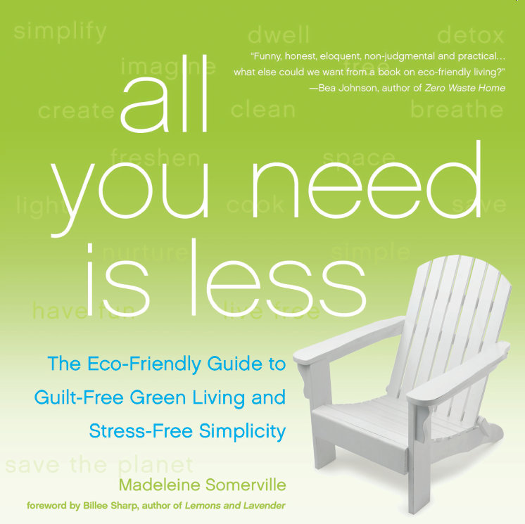 WIN a free audiobook of All You Need Is Less! via @SweetMadeleine, AllYouNeedIsLess.ca/blog