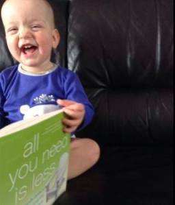 A reader submitted photo - we hippies start 'em young!